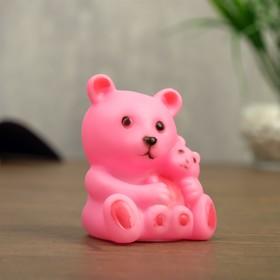 Ночник 'Медвежонок с мамой' 6х8 см пластик МИКС Ош