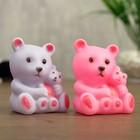 "Ночник ""Медвежонок с мамой"" 6х8 см пластик МИКС - фото 106529912"
