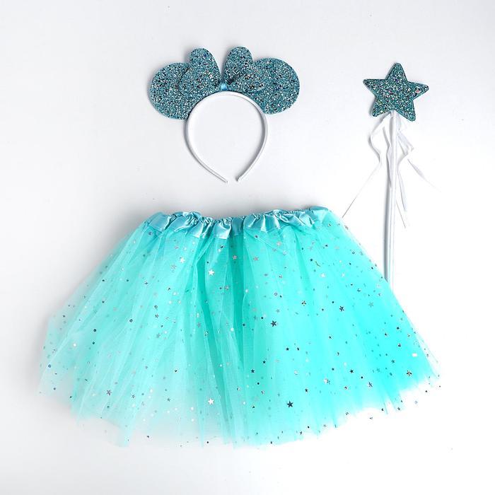 Карнавальный набор «Ушки», ободок, юбка, жезл - фото 2052909