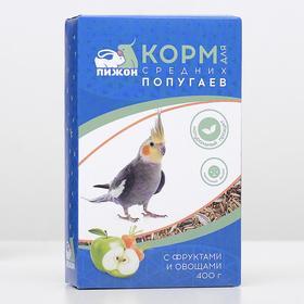 "Корм ""Пижон"" для средних попугаев, с овощами и фрутами, 400 г"