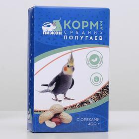 Корм 'Пижон' для средних попугаев, с орехами, 400 г Ош