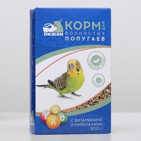 """Корм """"Пижон"""" для волнистых попугаев, с витаминами и минералами, 500 г"""