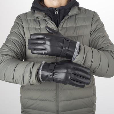 Men's gloves, dimensionless, with insulation, color black