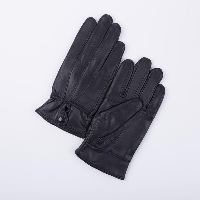 Перчатки, размер 7,5, подклад флис, цвет чёрный - фото 2052769