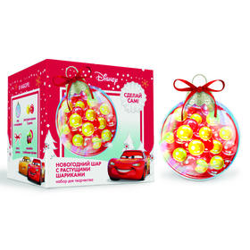 "Набор для творчества ""Новогодний шар с растущими шариками"", Тачки"