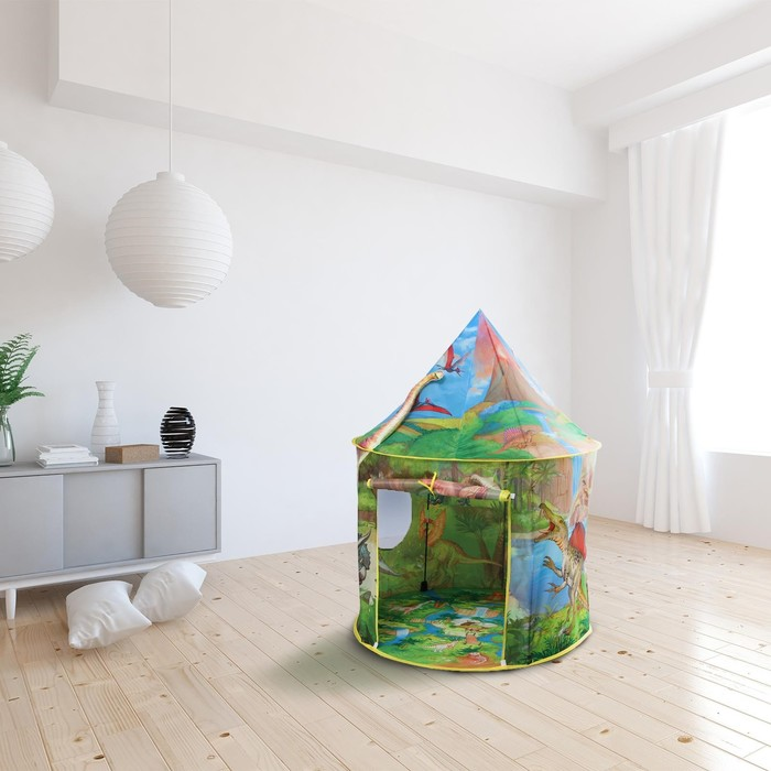 Палатка детская игровая «Динозавры» 100×100×135 см - фото 2051756