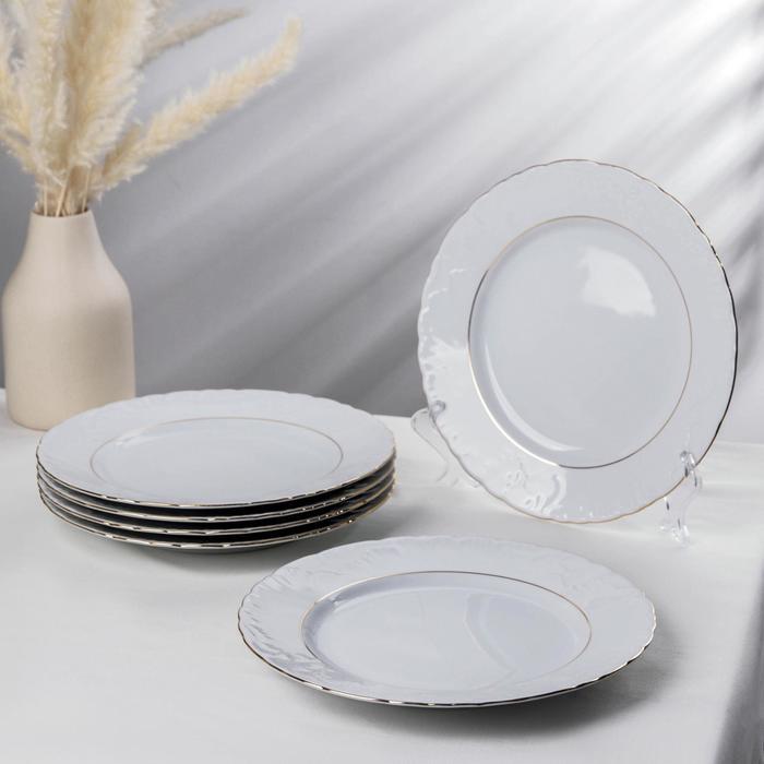 Набор тарелок мелких «Rococo золото», d=25 см, 6 шт - фото 2050830