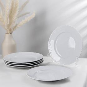 Набор тарелок мелких Rococo, d=25 см, 6 шт