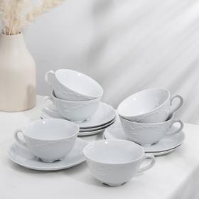 Чайный сервиз на 6 персон Rococo: чашка 220 мл, блюдце d=15,7 см