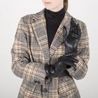 Перчатки женские, размер 6,5, с подкладом шерсть, цвет чёрный - фото 764601