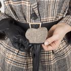 Перчатки женские, размер 6,5, с подкладом шерсть, цвет чёрный - фото 764602