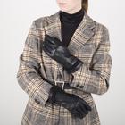 Перчатки женские, размер 7,5, с подкладом шерсть, цвет чёрный - фото 764608