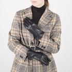 Перчатки женские, размер 7, с подкладом шерсть, цвет чёрный - фото 764612