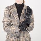 Перчатки женские, размер 7, с подкладом шерсть, цвет чёрный - фото 764613