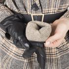 Перчатки женские, размер 7, с подкладом шерсть, цвет чёрный - фото 764614