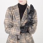 Перчатки женские, размер 7,5, с подкладом шерсть, цвет чёрный - фото 764625