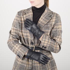 Перчатки женские, размер 6,5, длина 25 см, с подкладом шерсть, цвет чёрный