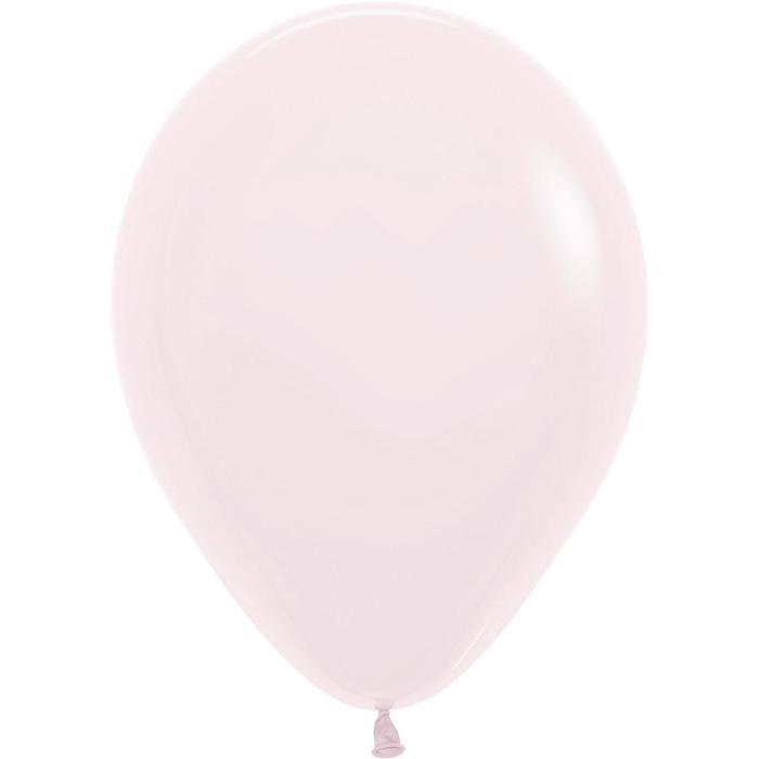 """Шар латексный 12"""", макарунс, пастель, набор 50 шт., цвет нежно-розовый - фото 2083358"""