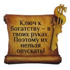 """Магнит денежный """"Ключ к богатству"""""""