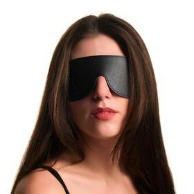 Leather mask, black