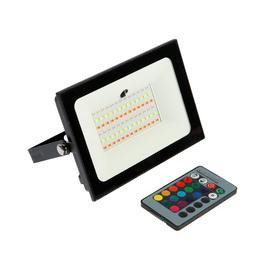 Прожектор светодиодный 50W, с пультом, 78SMD2835, IP65, 220 В, RGBW