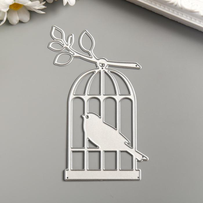 """Нож для вырубки сталь """"Птица в клетке"""" 10х6,5 см - фото 2082346"""