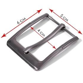 Belt buckle 6*5cm 40mm black Nickel AU