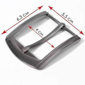 Belt buckle 6.3*5.5 cm 40mm black Nickel AU