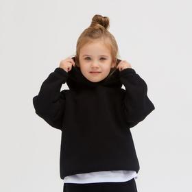 Худи детское MINAKU: kids цвет чёрный, рост 104 см