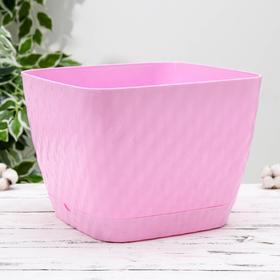 Кашпо с поддоном «Классика», 15 л, цвет розовый