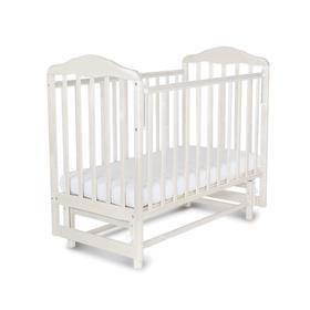 Кровать детская Березка с маятником (автостенка, накладка ПВХ, белый)