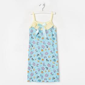 Сорочка для девочки, цвет голубой/рыбки, рост 110 см