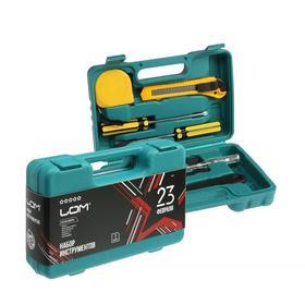 Набор инструментов в кейсе LOM '23 Февраля', подарочная упаковка, 7 предметов Ош
