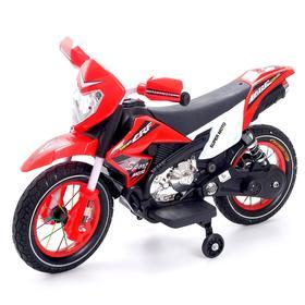 Электромотоцикл «Кросс», пневматические колеса, цвет красный
