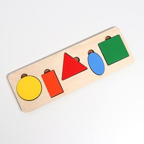 Рамка-вкладыш «Простая геометрия» 5 деталей, 28 × 9,5 × 0,8 cм
