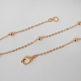 """Цепь """"Эйфория"""" бусины, цвет золото, ширина 3 мм, L=50 см"""