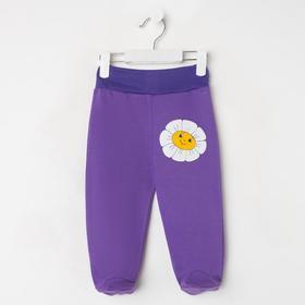Ползунки детские, цвет фиолетовый микс, рост 74 см