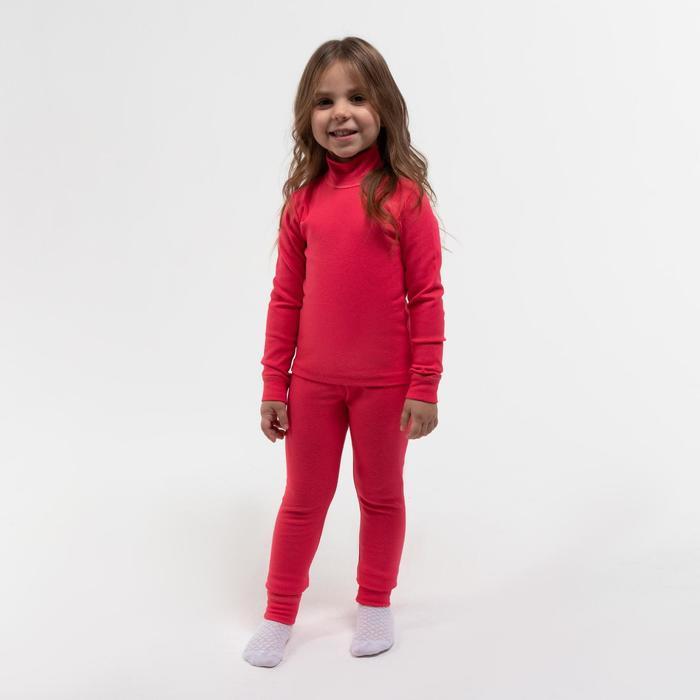 Комплект для девочки термо (водолазка, леггинсы), цвет фуксия, рост 98 см (28) - фото 2083863