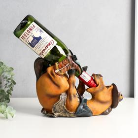 """Сувенир подставка под бутылку полистоун """"Конь-ковбой"""" 21х27,5х13 см"""