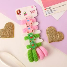 """Elastic band for hair """" Lea """"(set of 8 pieces) bears"""
