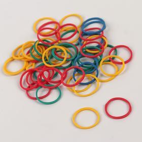 Hairdressing elastic bands d / cod hairstyles silik d1, 5*0.1 cm (set of 50pcs price per set) MIX NAC QF