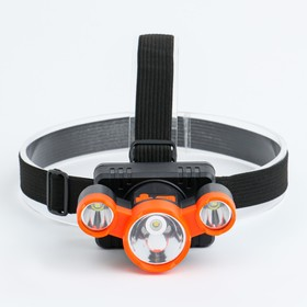 5W rechargeable headlamp, 3 led, 800 mA, 4 modes