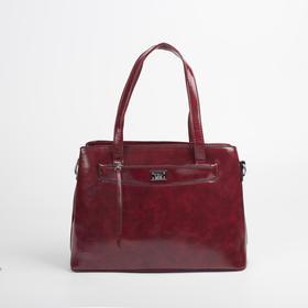 Сумка женская, отдел на молнии, наружный карман, цвет красный - фото 51721