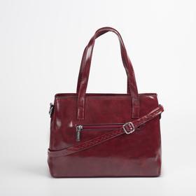 Сумка женская, отдел на молнии, наружный карман, цвет красный - фото 51722