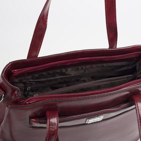 Сумка женская, отдел на молнии, наружный карман, цвет красный - фото 51723