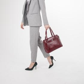 Сумка женская, отдел на молнии, наружный карман, цвет красный - фото 51724
