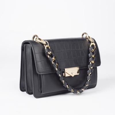 Women's bag L-211215 22*9*17, zippered otd, n / a pocket, black
