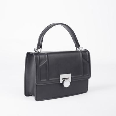 Women's bag L-1102, 22*9*17, zippered otd, n / a pocket, black