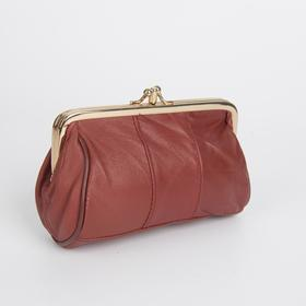 Cosmetic bag-clasp, L-951. 11*5*8cm, 2 sections on the frame, red