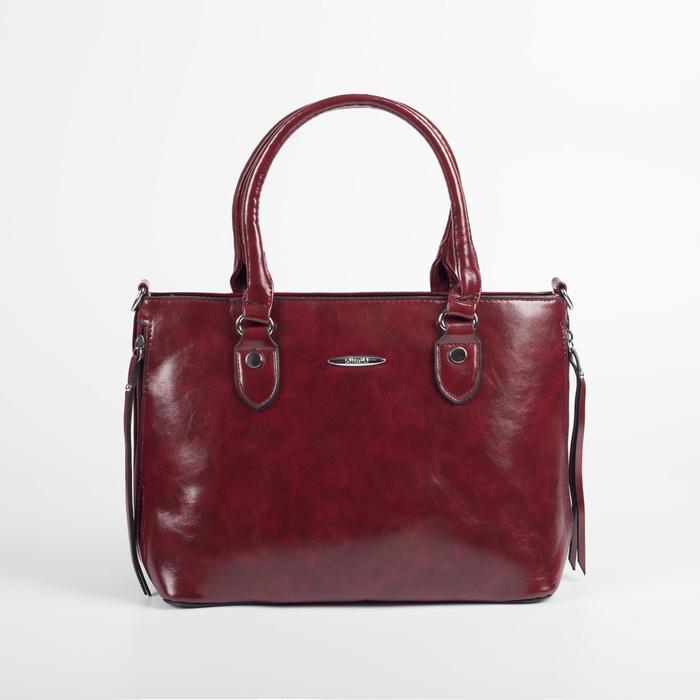 Сумка женская, отдел на молнии, наружный карман, цвет красный - фото 51781
